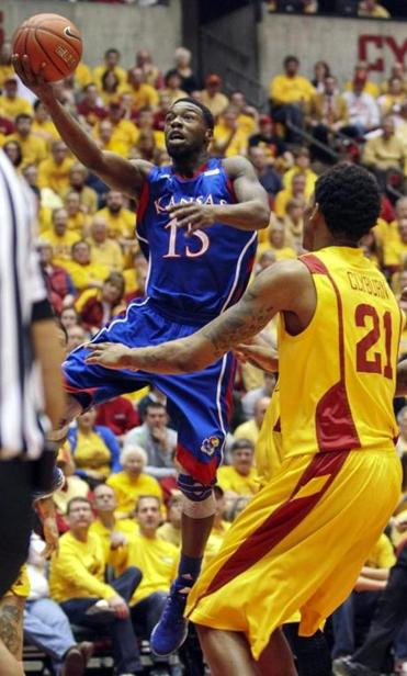 Kansas guard Elijah Johnson scored a career-high 39 points against Iowa State.