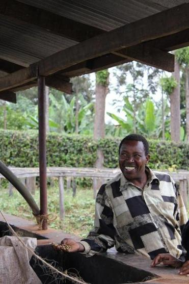 Kenyan coffee farmer Symon's loans facilitated coffee investments that turned profitable in the first year.