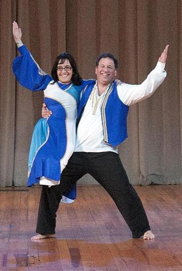 Larry Denenberg of Newton performed with partner Bonnie Rubenstein at last year's Israel Folkdance Festival.