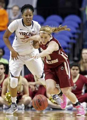 Kerri Shields and Boston College held off Virginia to become the second No. 11 seed to win in the ACC tourney.