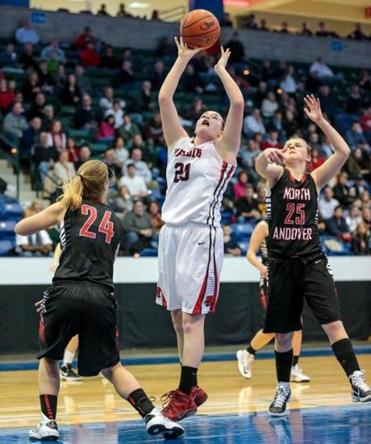 With North Andover's defense focused elsewhere, Sarah Haase stepped up for Reading and scored 19 points.