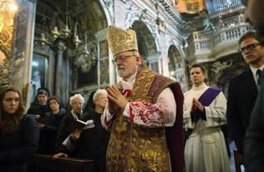 Cardinal Sean O'Malley walked in a procession at Santa Maria Della Vittoria in Rome last week. Some Vatican observers said that O'Malley emerges from the conclave with a new status; he has broadened his profile, they said.
