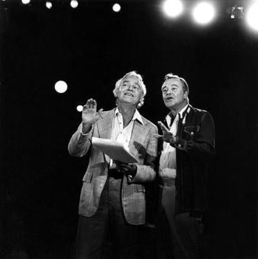 Arthur Storch (left) with Jack Lemmon at Syracuse Stage, a regional theater company that Mr. Storch created and that is considered one of the most successful in the country.