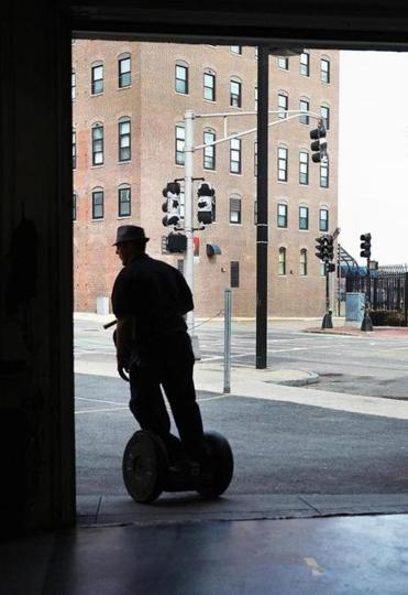 Josh Picard De La Paz led a tour Saturday. The presence of Segways has irked neighbors.