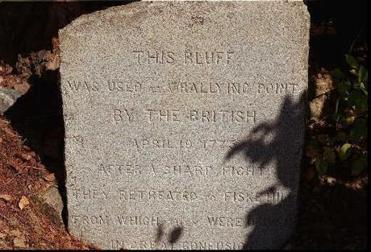 The Bloody Bluff monument in Lexington.