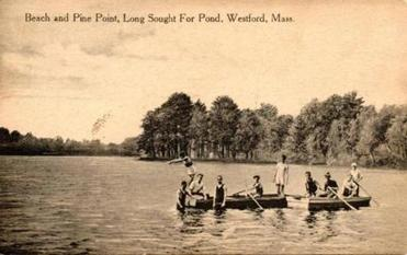Postcard image of Long Sought For Pond in Westford