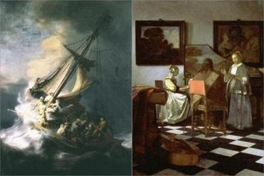 "Rembrandt's ""The Storm on the Sea of Galilee"" and  Johannes Vermeer's ""The Concert"" were both stolen in the heist."