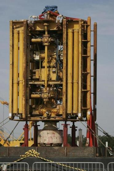 The Deepwater Horizon rig employed  this blowout preventer stack.