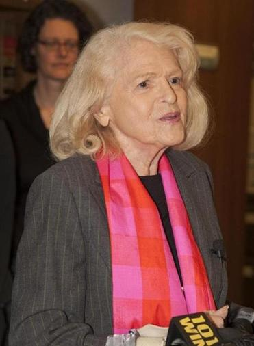 Edie Windsor, 83, had to pay more than $360,000 in federal estate taxes after her spouse Thea Spyer died in 2009.
