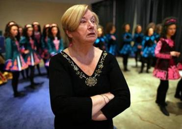 O'Shea watched dancers perform at The World Irish Dancing Championships.