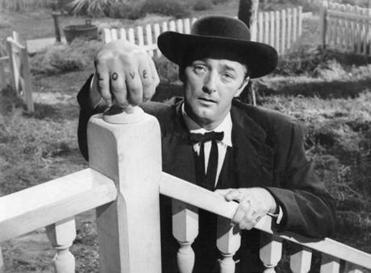 """The Night of the Hunter"" (1955) starring Robert Mitchum (pictured) and directed by Charles Laughton."