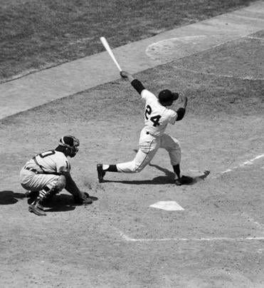 Gus Triandos was behind the plate as Willie Mays cracked a game-winning triple in the first 1959 All-Star Game.