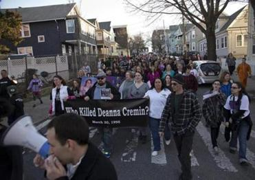 Friends, family, and classmates met in Somerville March 30 to symbolically walk Deanna Cremin home.