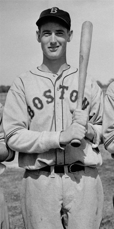 Future Hall of Famer Ted Williams in uniform in 1938.