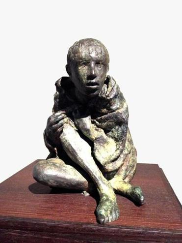 "Irish sculptor Rowan Gillespie's bronze ""The Victim"" (2010)."