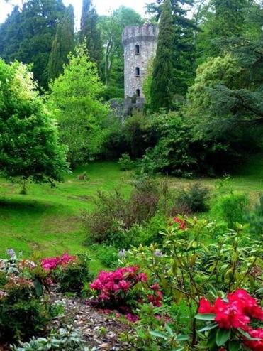 The lush Powerscourt Gardens are among the most visited in Ireland.