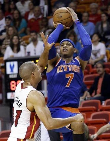 Carmelo Anthony shot 18 of 26 and scored 50 points in the Knicks' victory.