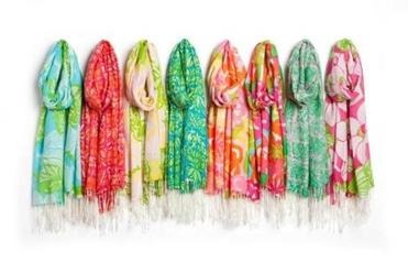 Scarves designed by Lilly Pulitzer