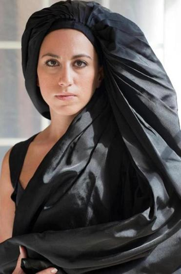 Portrait in Black Fabric photograph by Kathleen Gerdon Archer.