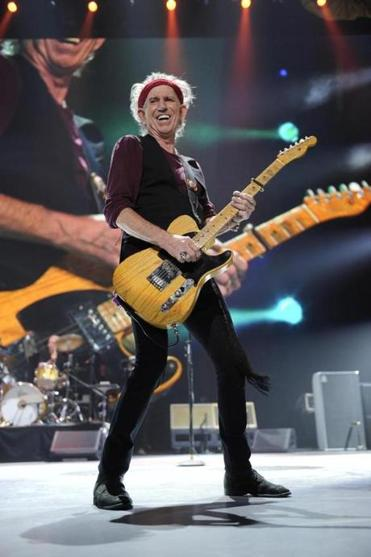 Keith Richards says he is excited to get back on the road with the Rolling Stones.