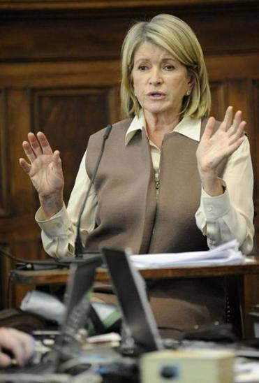 Martha Stewart testified in a suit brought by Macy's.