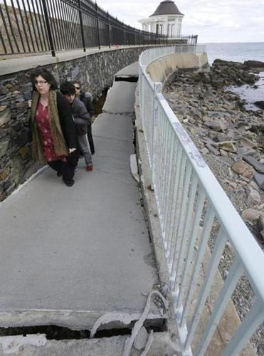 Plans to repair this portion of the famed Cliff Walk in Newport, R.I., were fiercely opposed because of threats to the surf below.