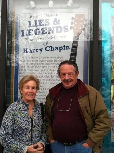 Sandy Chapin, the widow of Harry Chapin, with Danny Eaton, the producing director of the Majestic Theatre.