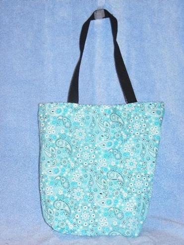 Reversible tote bags by Abigail Campbell, 16, of Marshfield.