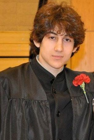 Dzhokhar A. Tsarnaev posed for a photo after graduating from Cambridge Rindge and Latin High School.