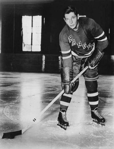 Pentti Lund was hockey's top rookie his first season for the Rangers. Later he was traded to the Bruins.