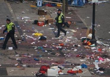 Boylston Street, which had been the site of Marathon revelry, was transformed into a crime scene within seconds after two bombs tore through the crowd around 2:50 p.m.