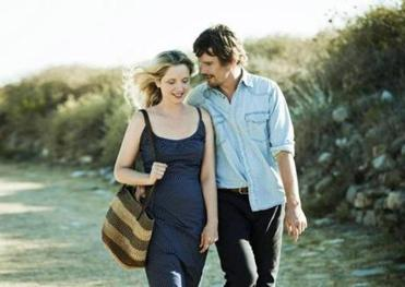 "Julie Delpy as Celine and Ethan Hawke as Jesse return in ""Before Midnight."""