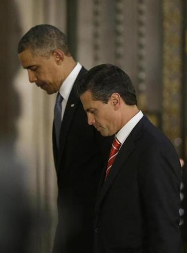 President Obama and President Enrique Pena Nieto of Mexico exited a news conference in Mexico City.