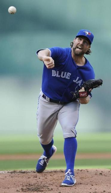 It's been a slow start to the season for the Blue Jays' R.A. Dickey.