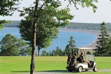 A view from the nine-hole Herring Cove Provincial Park golf course.