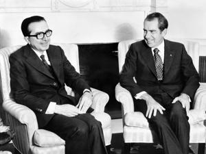 Mr. Andreotti (left) met with then US President Richard Nixon in 1973.