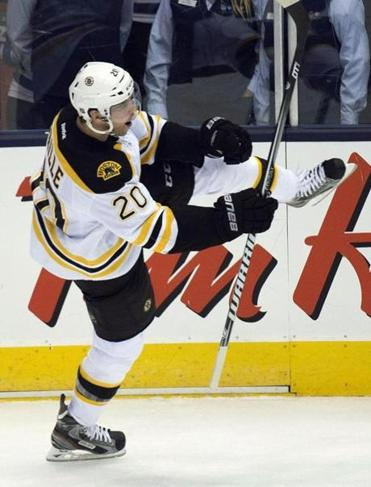 Daniel Paille was pumped after scoring in the second period of Game 3.