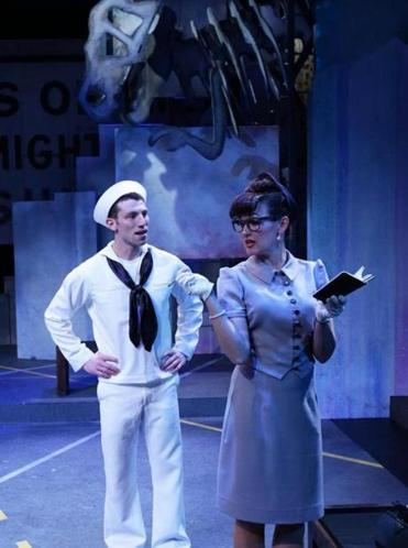"Zachary Eisenstat and Aimee Doherty in the Lyric Stage Company's ""On the Town.''"