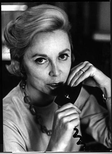 Dr. Joyce Brothers on the daily WNBC Radio show 'Call Dr. Brothers' in 1966