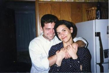 Gionfriddo and DuBois at her Providence apartment in 1997.