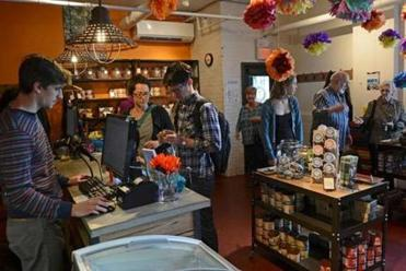 Taza Chocolate's retail store in Somerville draws fans of the premium product. Sales are growing about 30 percent a year.