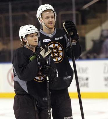 Dougie Hamilton (rigth) is hoping to take his game to the next level this year.