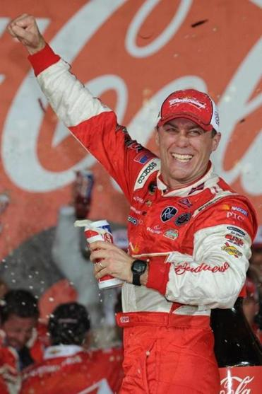 Kevin Harvick separated himself from the field on a late restart and cruised to the victory.