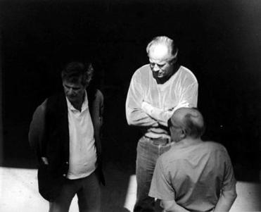 Bulger (center) was caught on a police surveillance photo in a 1980 meeting with Ted Berenson (left) and Phil Wagenheim at the Lancaster Street garage near North Station. Bulger allegedly used the garage as a headquarters. The photo was presented as evidence.