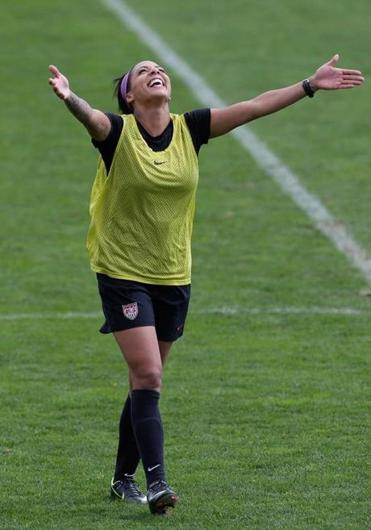 Sydney Leroux embraces the US while enduring boos from Canada.