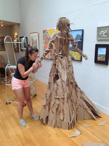 High school art students star in three-dimensional show ...