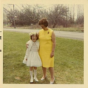 The author and her mother, Edna.