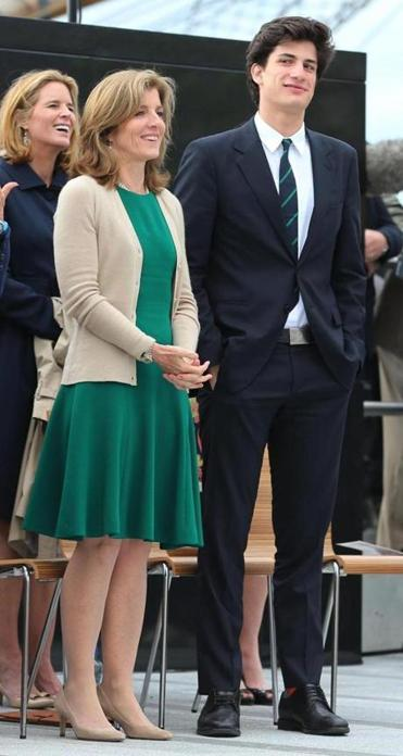 Caroline Kennedy and her son, Jack, participated in the ceremony in Ireland.