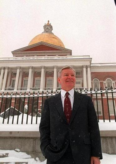 William M. Bulger outside the State House in 1996.