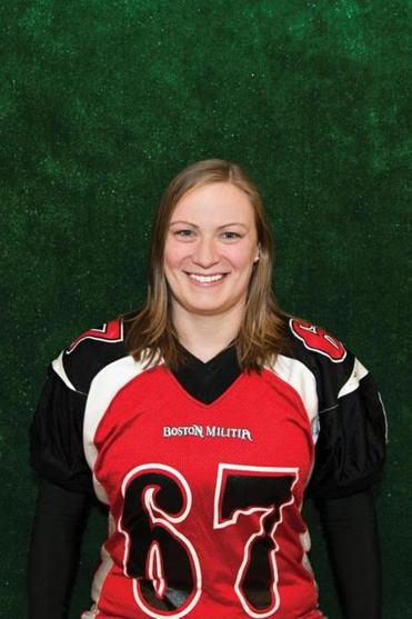 Boston Militia football player and Bedford High graduate Kristen Sarson works as an environmental scientist.